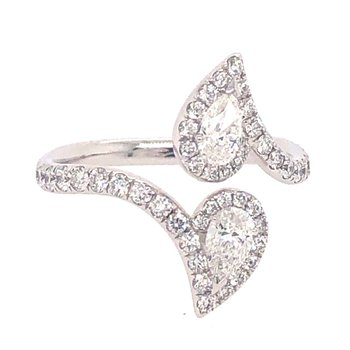 Bypass Diamond Ring