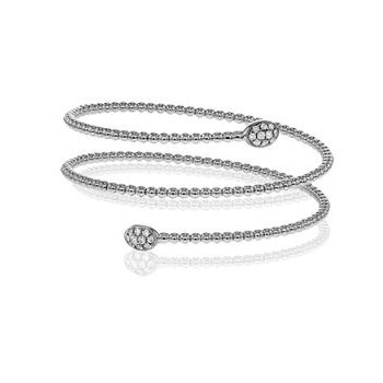 Wrap Around Diamond Bangle