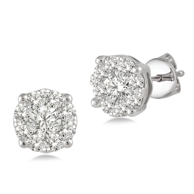 Lasker Diamond Fashion Lovebright Diamond Stud Earrings - .25cttw