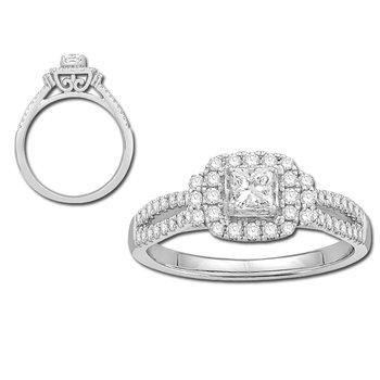Miracle-set Vintage Diamond Ring