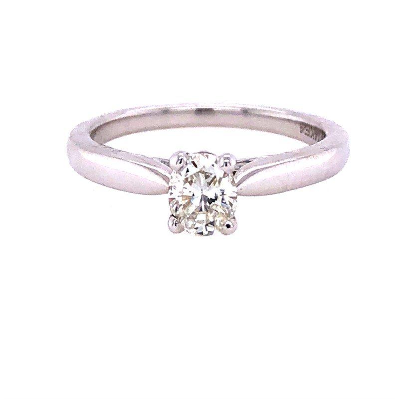Lasker Bridal .52ct Oval Diamond Solitaire