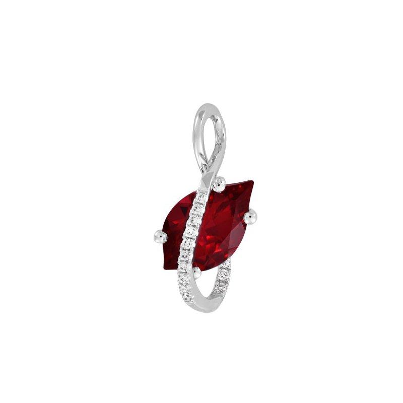 Lasker Gemstone Chatham Ruby Pendant