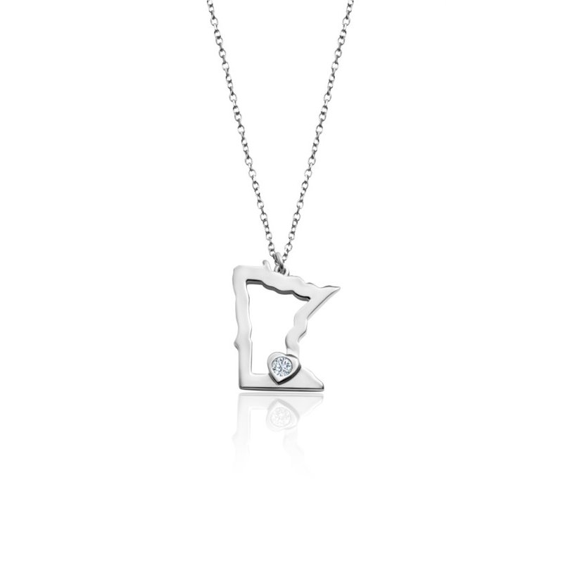 Lasker Signature Heart of Minnesota Pendant - Sterling Silver