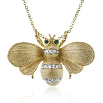 Monarch Bee Pendant