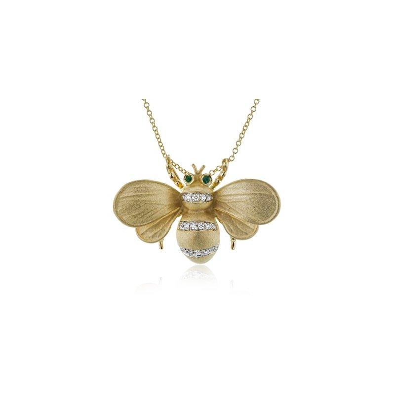 Simon G Monarch Bee Pendant