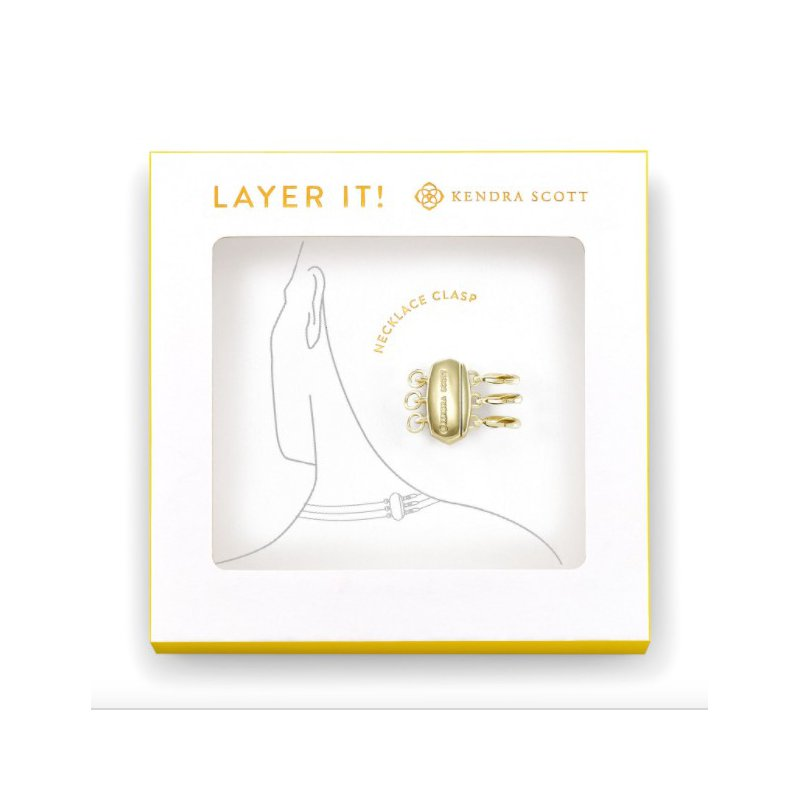 Kendra Scott Layer It! Necklace Clasp In Yellow