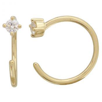 Open Diamond Hoop Earrings
