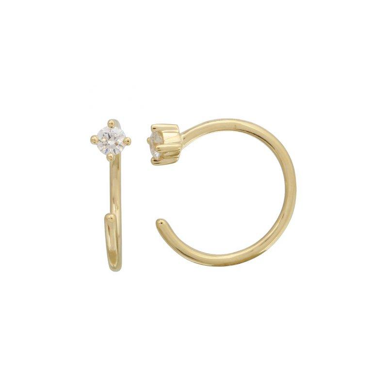 Lasker Diamond Fashion Open Diamond Hoop Earrings
