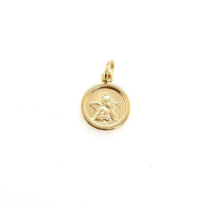 Lasker Gold Fashion Guardian Angel Pendant