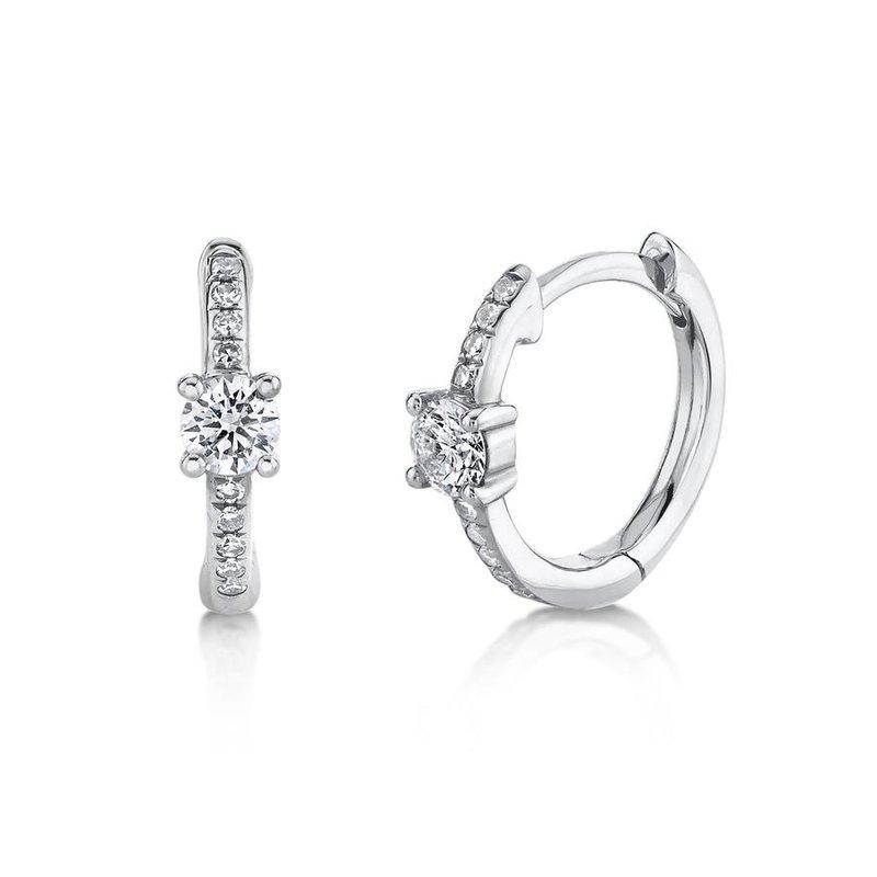 Lasker Diamond Fashion Huggie Earrings