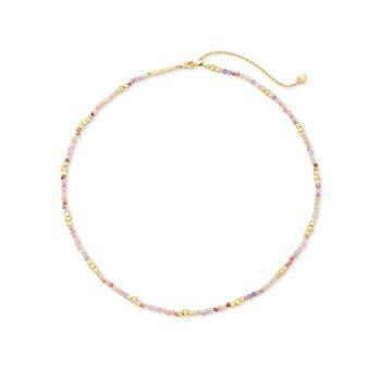 Scarlet Choker Necklace Gold Pastel Mix