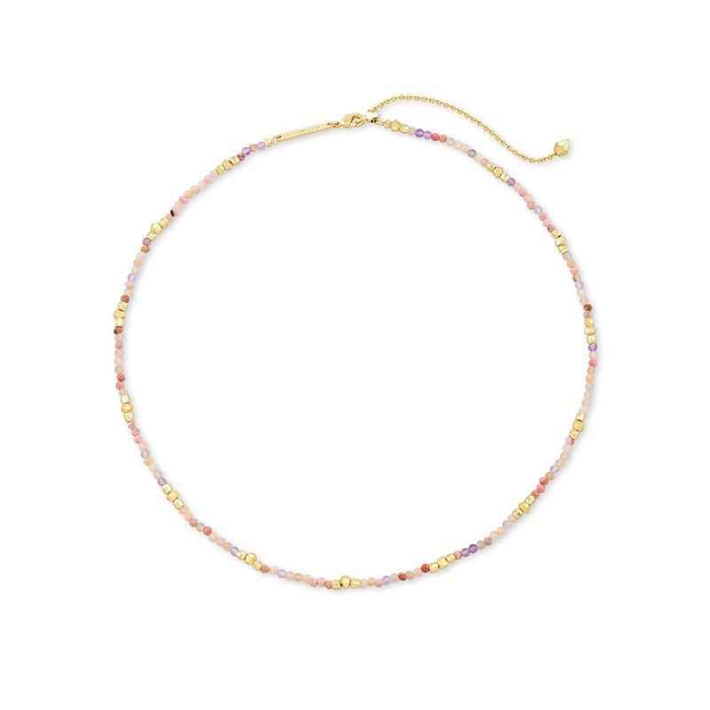 Kendra Scott Scarlet Choker Necklace Gold Pastel Mix