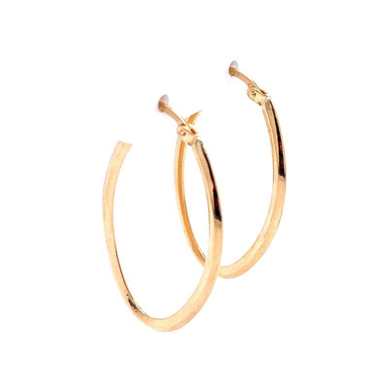Lasker Gold Fashion Oval Hoops