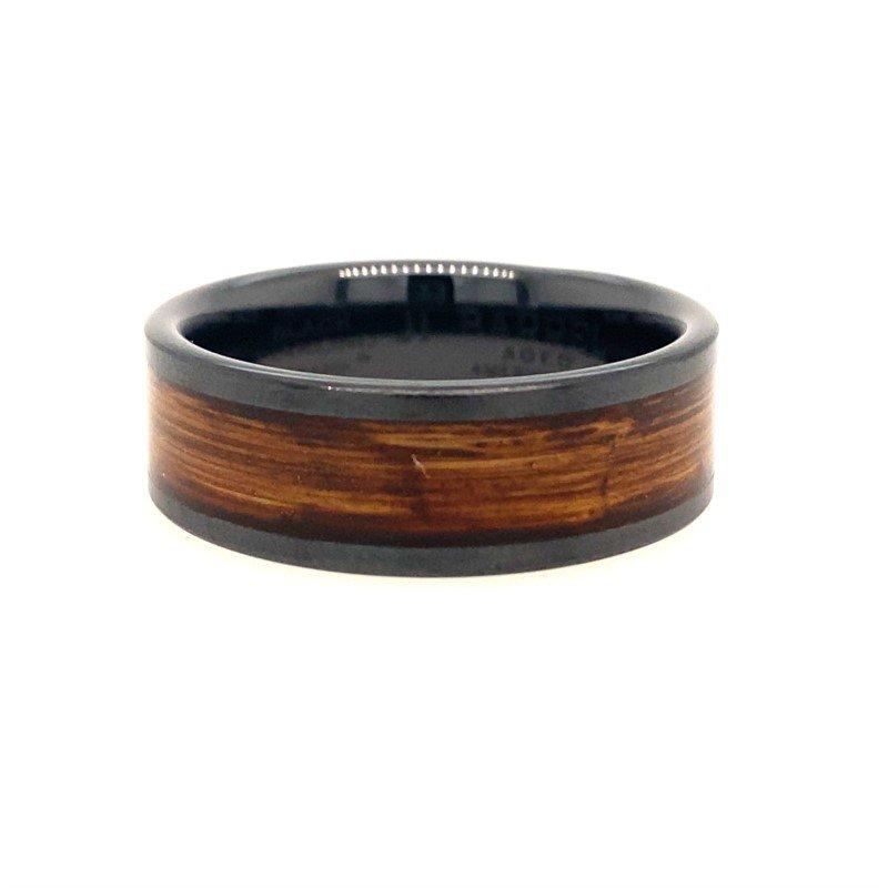 Lasker Men's Rye Stone Barrel Inlay Band