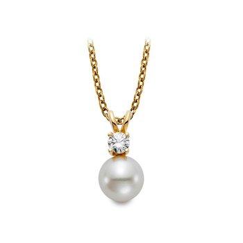 Diamond & Freshwater Pearl Pendant