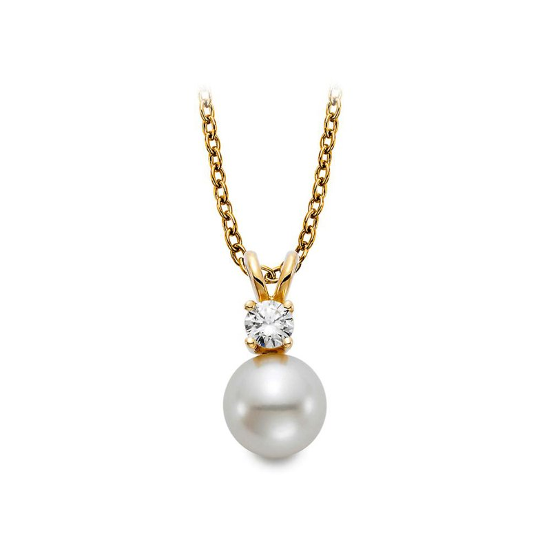 Lasker Pearl Fashion Diamond & Freshwater Cultured Pearl Pendant