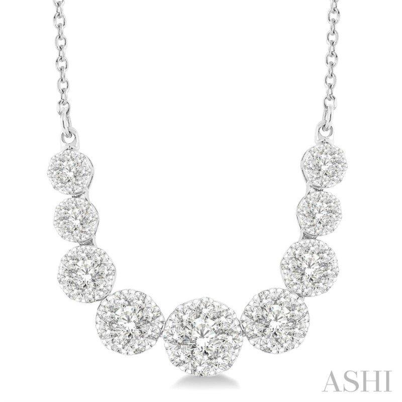 Lasker Diamond Fashion Lovebright Diamond Necklace - 1.95cttw
