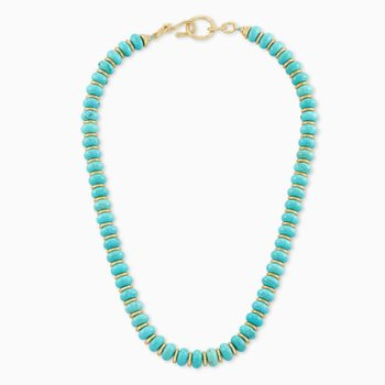 Kendra Scott Rebecca Yellow Choker Necklace In Variegated Turquoise Magnesite