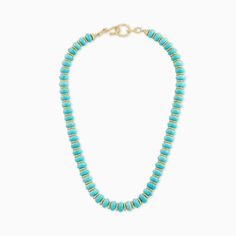 Kendra Scott Kendra Scott Rebecca Yellow Choker Necklace In Variegated Turquoise Magnesite