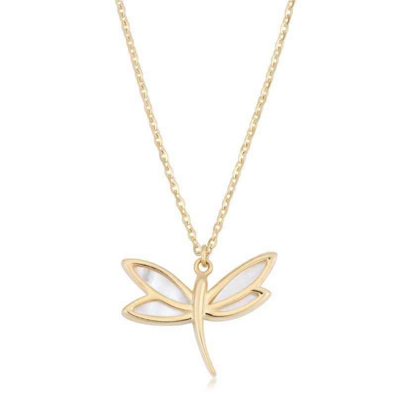 Lasker Gemstone Dragonfly Necklace