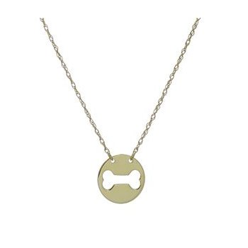 Dog Bone Cut-Out Disc Pendant