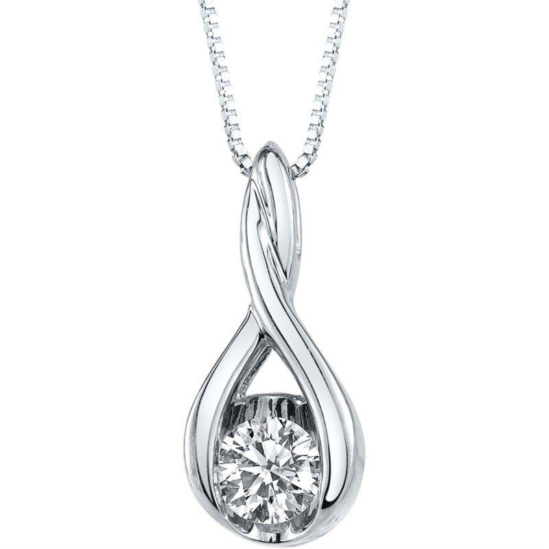 Lasker Diamond Fashion Weave Solitaire Pendant - .25ct