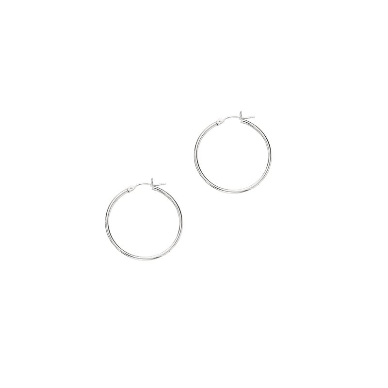 Lasker Gold Fashion 14kt Hoop Earrings - 2x30mm