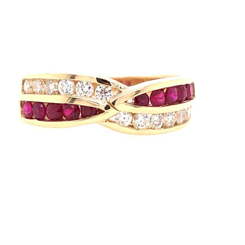 Lasker Gemstone DeLeo Ruby & Diamond Ring
