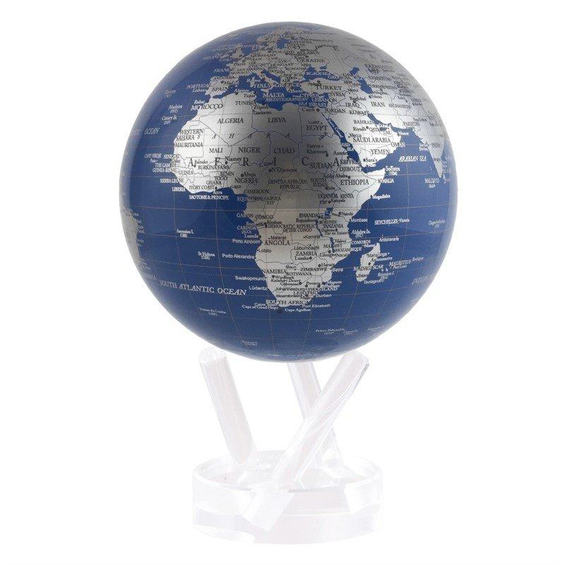 Mova Globes Blue & Silver Globe