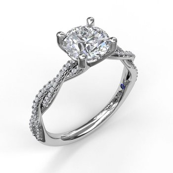 Diamond Twist Engagement Ring Mounting