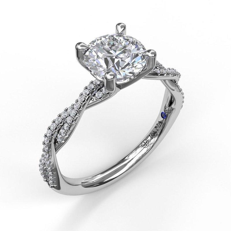 Fana Diamond Twist Engagement Ring Mounting