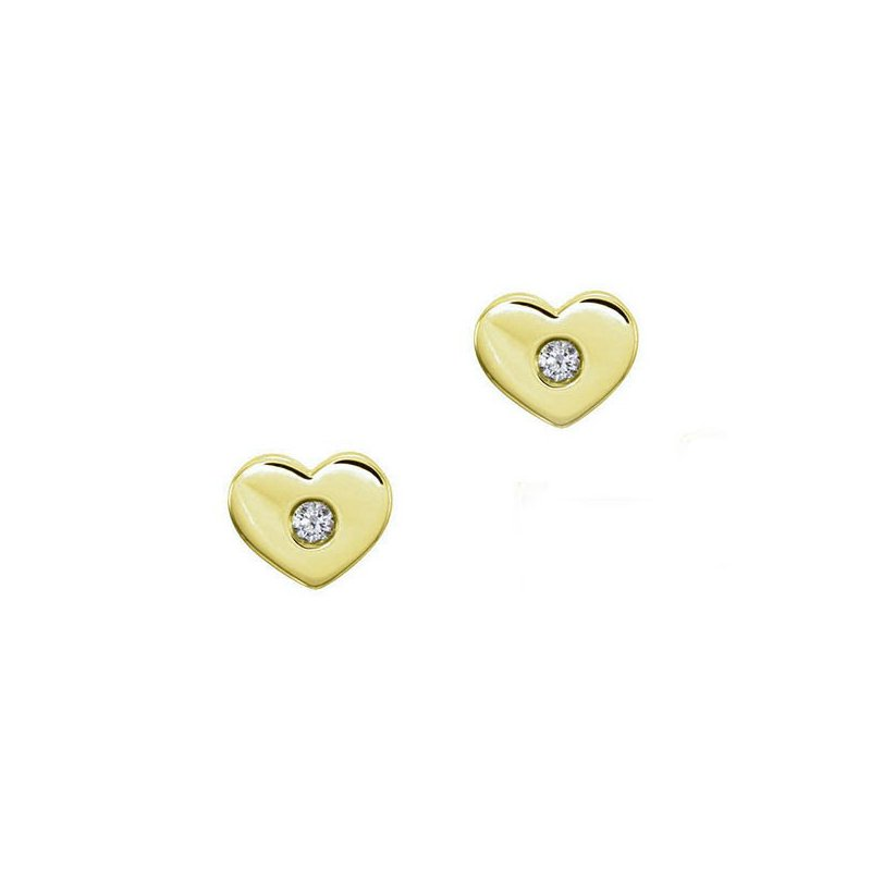 Lasker Gold Fashion Youth Mini Heart Studs