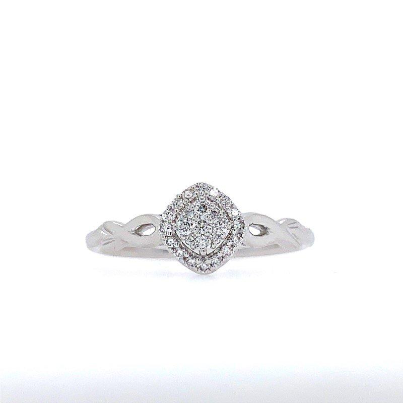 Lasker Diamond Fashion Vintage-Inspired Promise Ring
