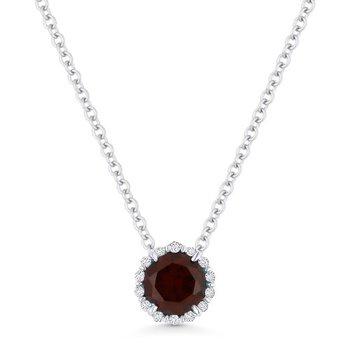 Center of My World Garnet and Diamond Pendant
