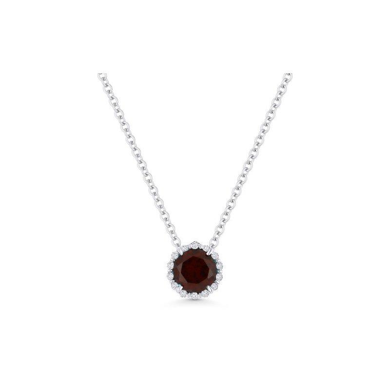 Lasker Gemstone Center of My World Garnet and Diamond Pendant