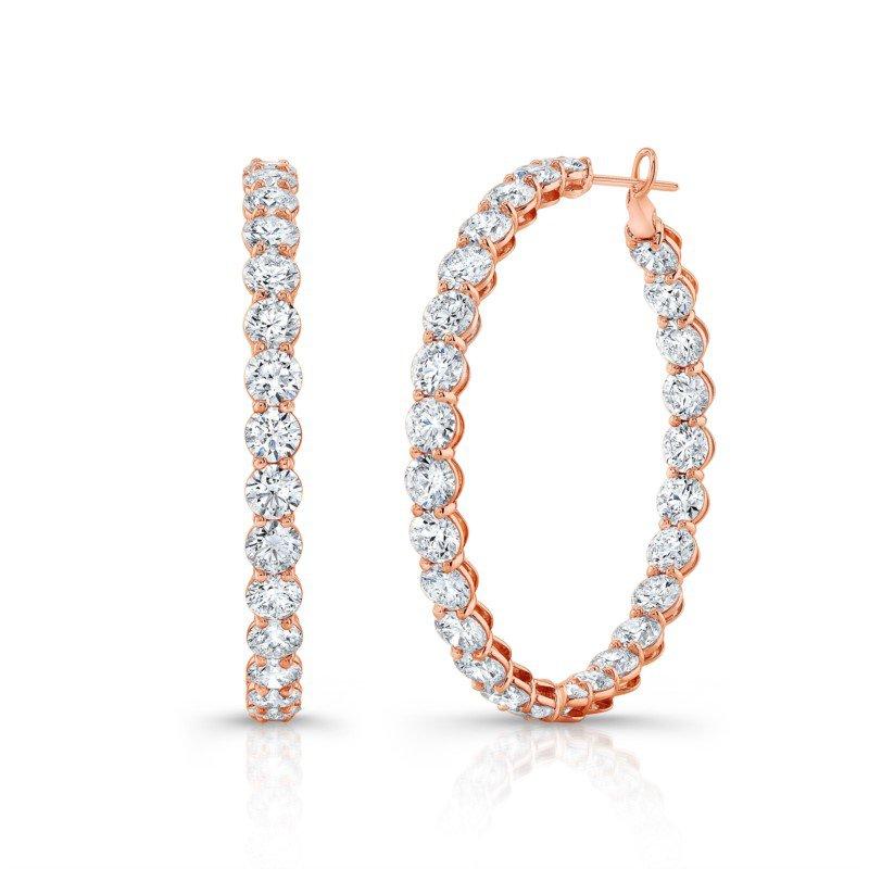 Lasker Diamond Fashion Beaded Diamond Hoop Earrings