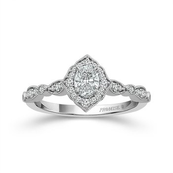Picture Frame Halo Ring - Oval Diamond