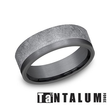 7mm Dark & Grey Tantalum Band