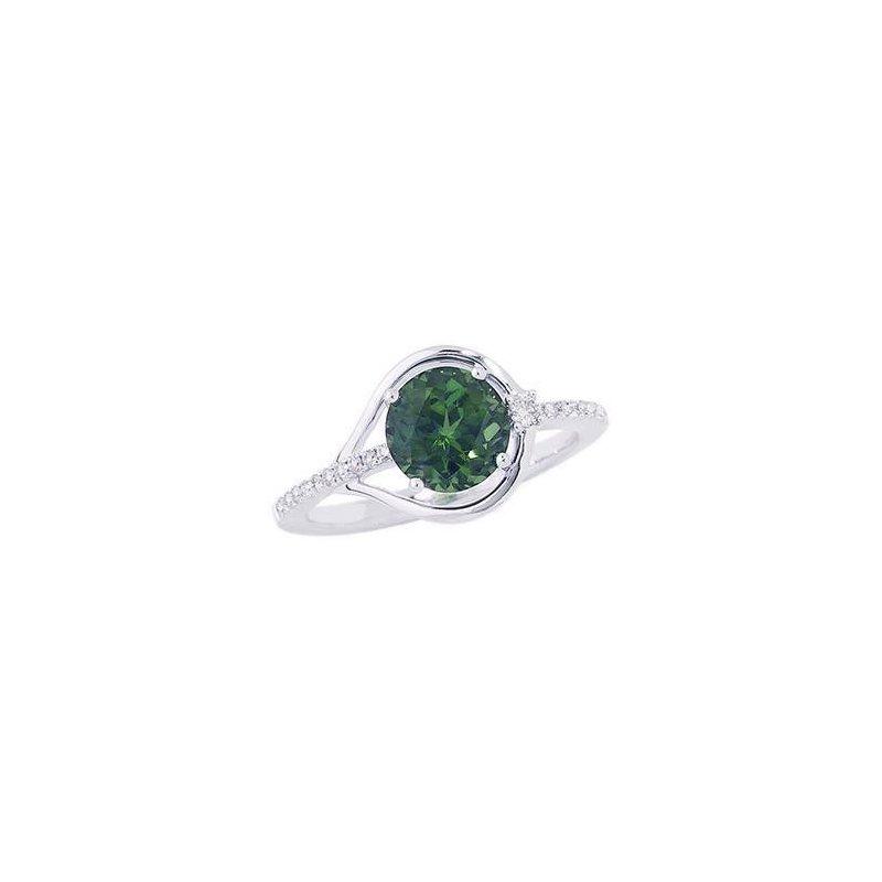 Lasker Gemstone Chatham Emerald Ring