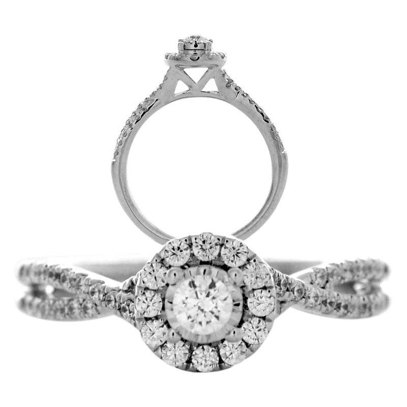 Lasker Bridal Miracle-Set Halo Ring