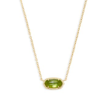 Elisa Pendant Necklace In Peridot Illusion