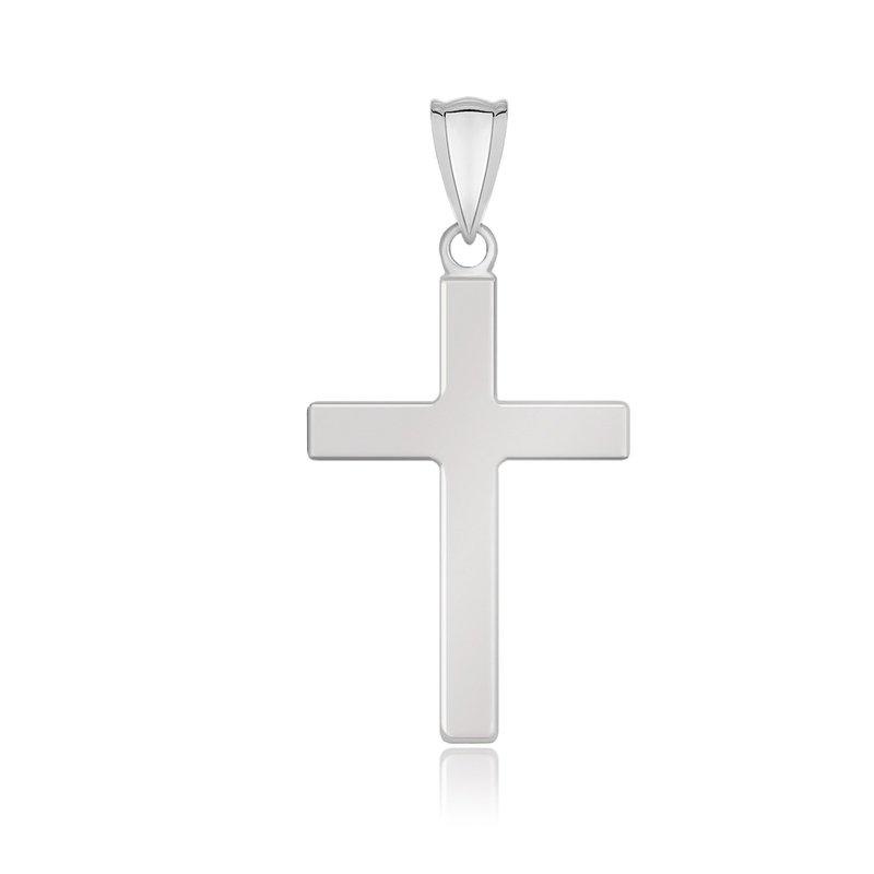 Lasker Gold Fashion Flat Domed Cross Pendant