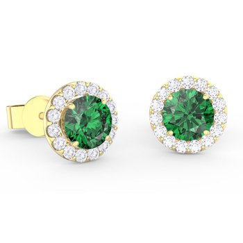 Center Of My World Emerald Earrings