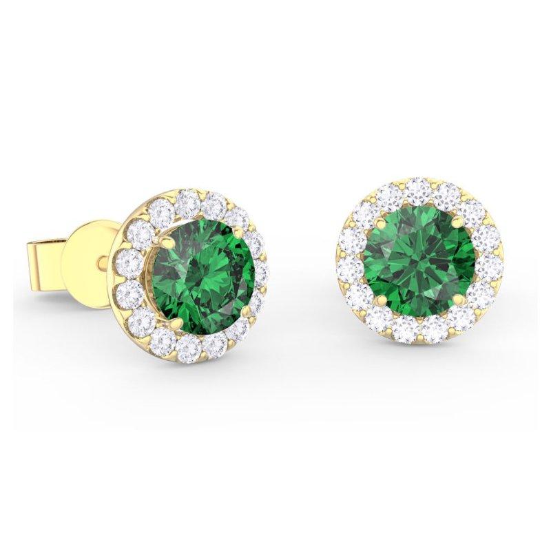 Lasker Gemstone Center Of My World Emerald Earrings