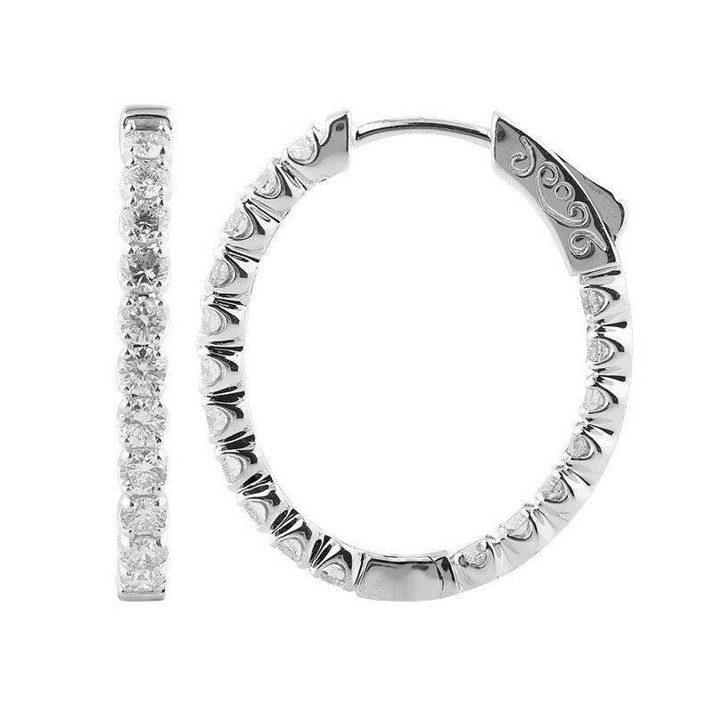 Lasker Diamond Fashion Inside/Outside Hoop
