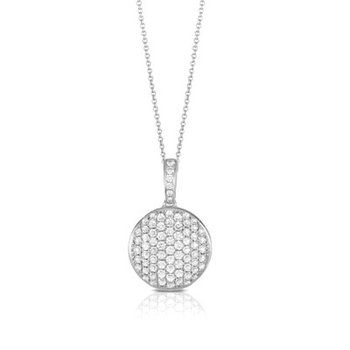 Diamond Pave Large Circle Pendant