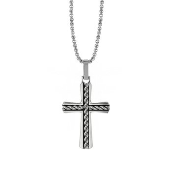 Cable Center Cross Pendant