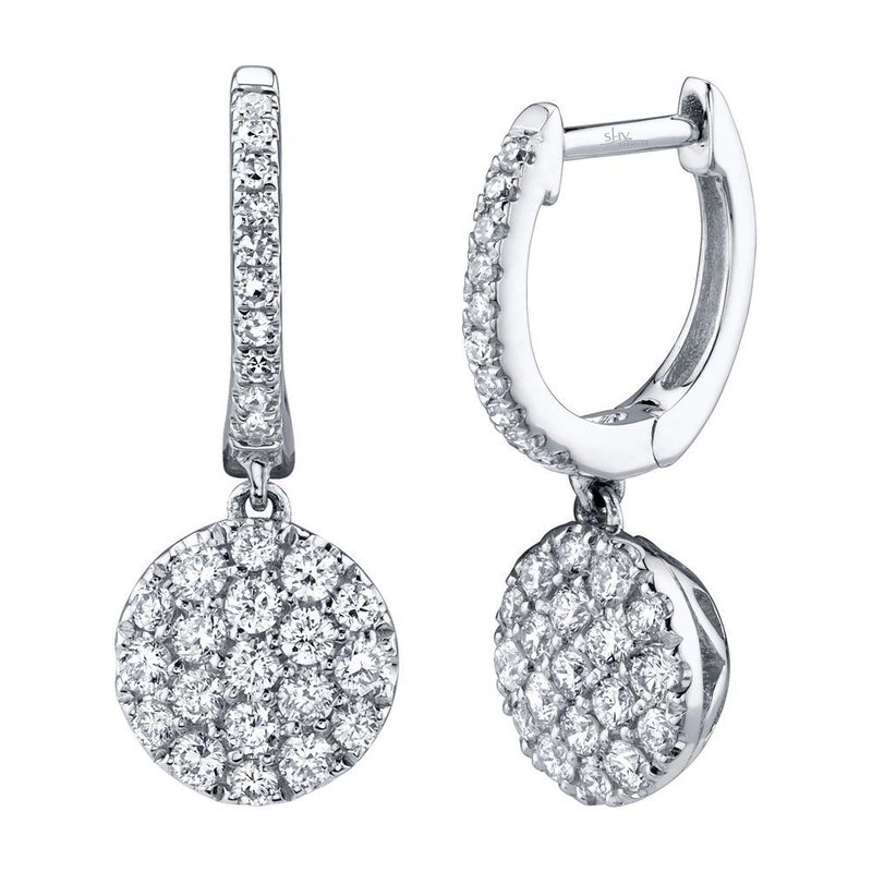 Lasker Diamond Fashion Diamond Pave Drop Earrings