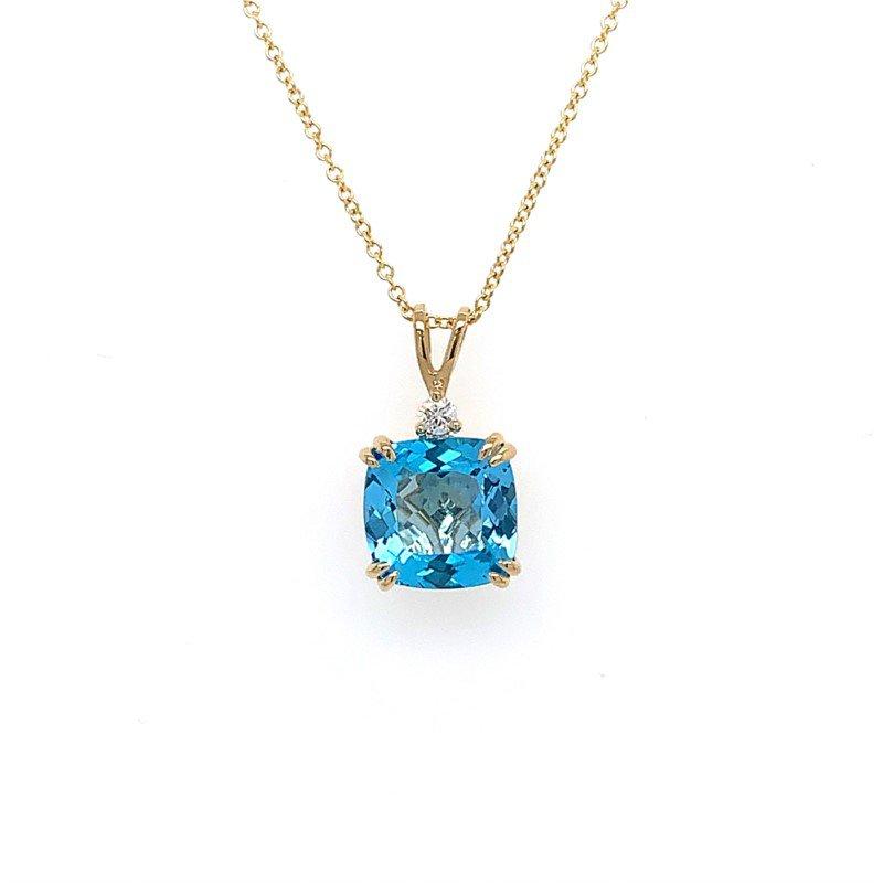 Lasker Gemstone BLUE TOPAZ PENDANT