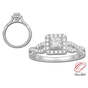 Miracle-Set Princess Cut Diamond Ring